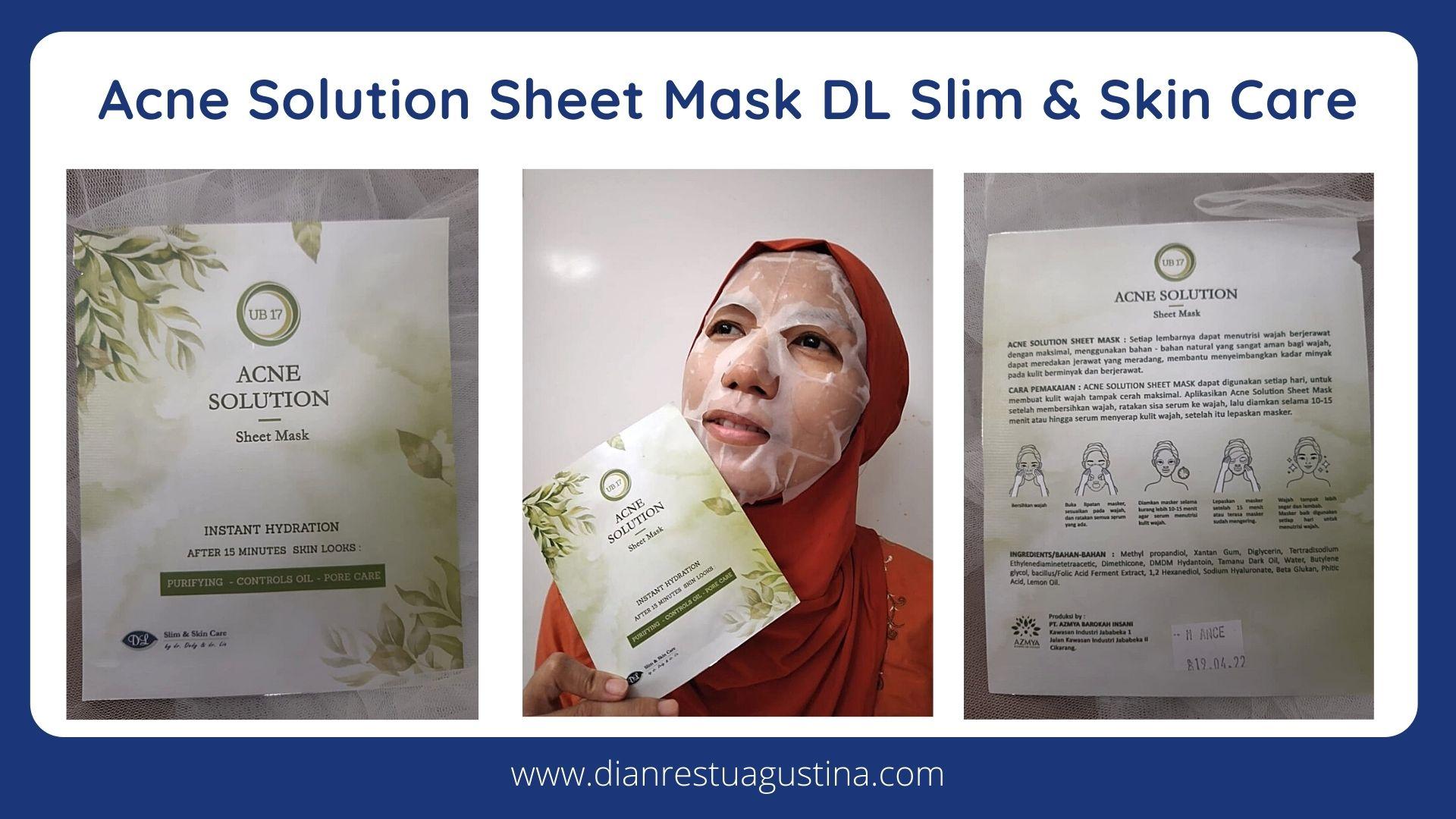 Acne Solution Sheet Mask DL Slim & Skin Care