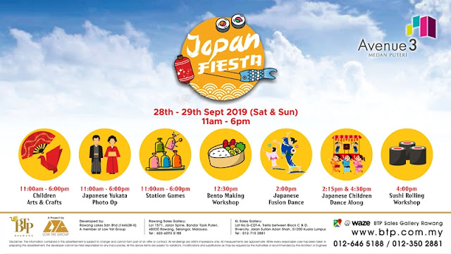 Japan Fiesta, BTP Sales Gallery Rawang, Avenue 3 Medan Puteri, BTP Rawang, Rawang Development, Property, Investment, Lifestyle