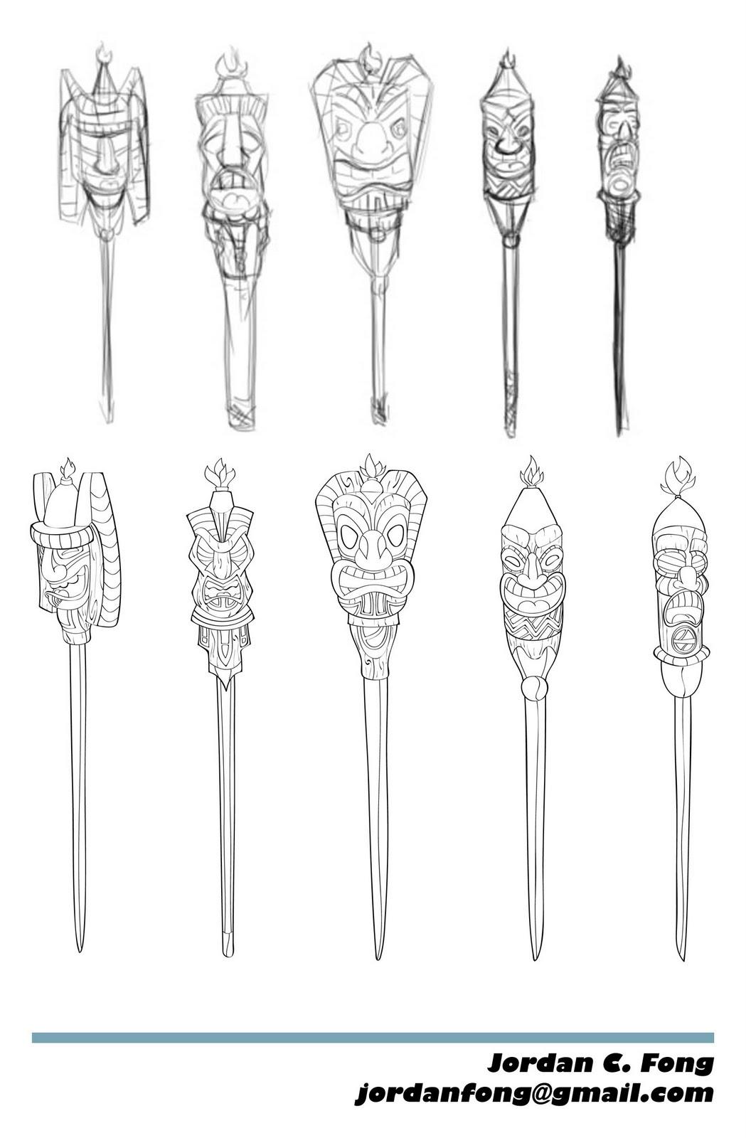 Sketch Hound Tiki Torch Time