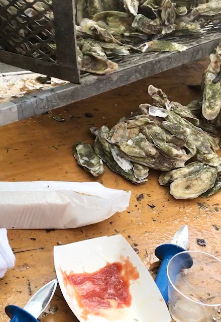 seafood; oyster clusters; Mt. Pleasant; South Carolina; Giorgio Coniglio