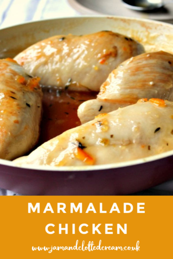 Sticky Marmalade Chicken in pan