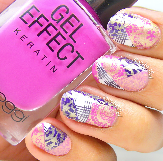Elegant Patchwork Stamping Nails