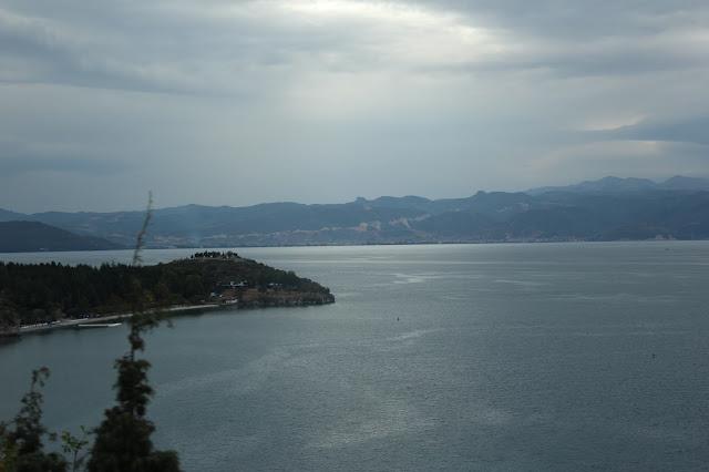 Ohrid Lake mountain sky