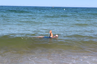 Swimming at White Horse beach