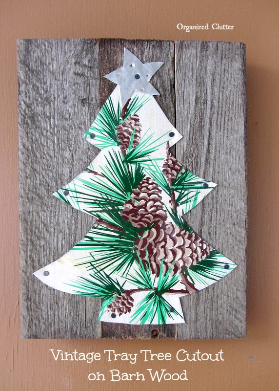 Rustic Reclaimed Wood Christmas Decor www.organizedclutterqueen.blogspot.com