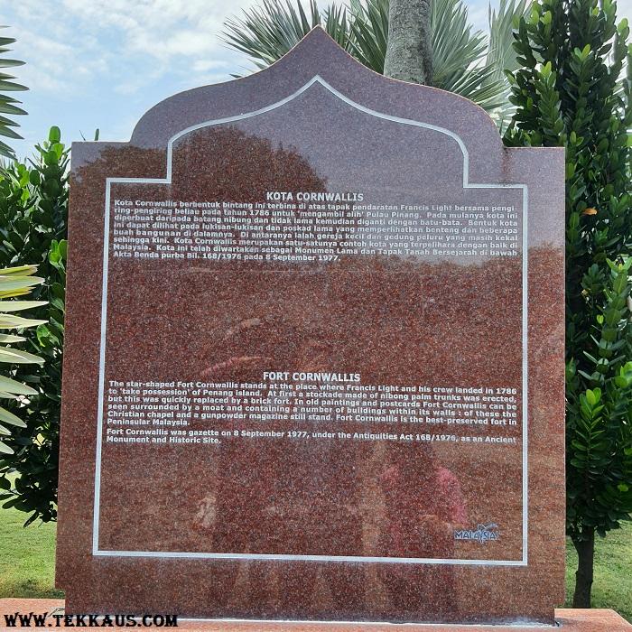 History of Fort Cornwallis