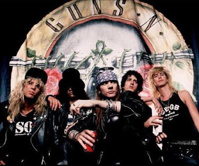 Foto de Guns'Roses en portada de disco