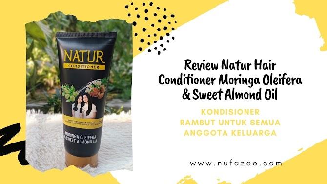 Natur Hair Conditioner Moringa Oleifera & Sweet Almond Oil, Kondisioner Rambut untuk Semua Anggota Keluarga