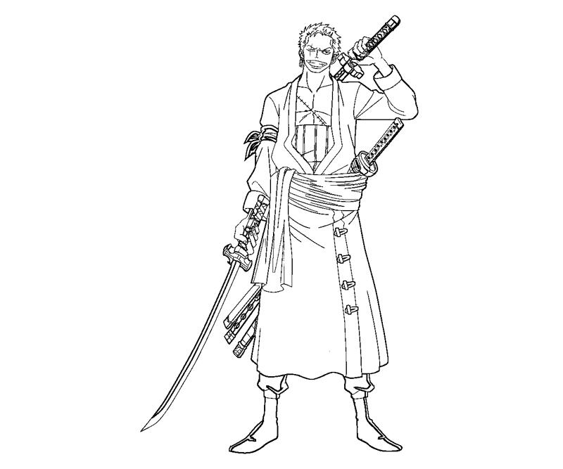 zoro coloring pages - roronoa zoro 7 coloring crafty teenager