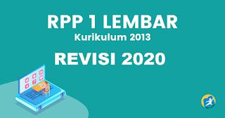 RPP Format 1 Lembar Mapel PAI & BP Revisi 2020