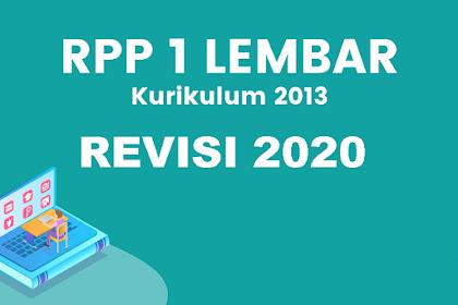 RPP 1 Lembar PAI SMP K13 Revisi 2020 Kelas 7,8 & 9