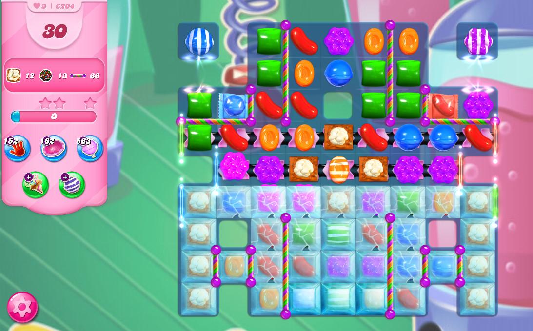 Candy Crush Saga level 6204
