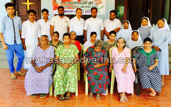Kerala, News, Kasargod, NYL, Food, NYL celebrates Christmas with old age home.