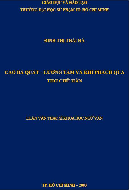 Cao Bá Quát lương tâm và khí phách qua thơ chữ Hán