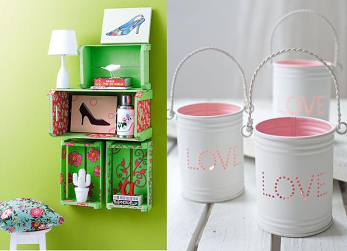 decoração com objetos reciclados