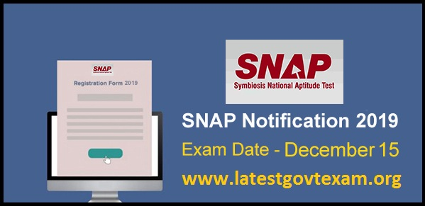 SNAP 2019 - Notification, Eligibility Criteria and Important Dates