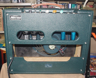 Rear view of the amplifier