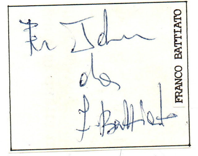 Autografo Battiato