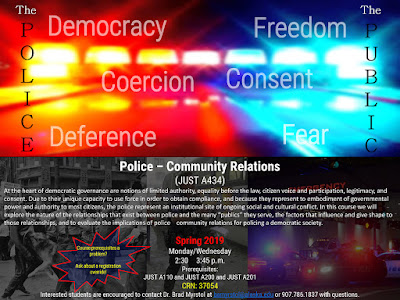 Police–Community Relations (JUST A434) flyer