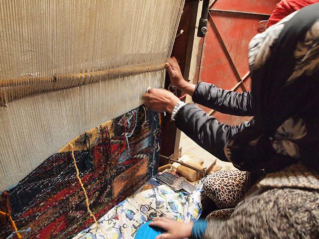 Talleres Nómadas: alfombras en las montañas de Marruecos Julio 2017