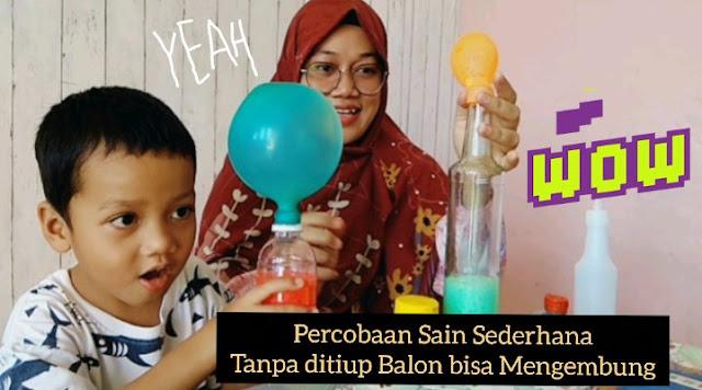 balon bisa mengembang tanpa ditiup