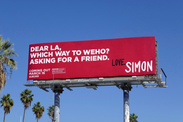 Love Simon movie billboard