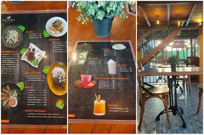 daftar menu wistara cafe and family resto Denpasar