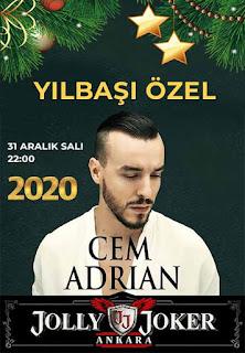 Jolly Joker Ankara Yılbaşı Programı 2020 Menüsü Cem Adrian Yılbaşı Programı