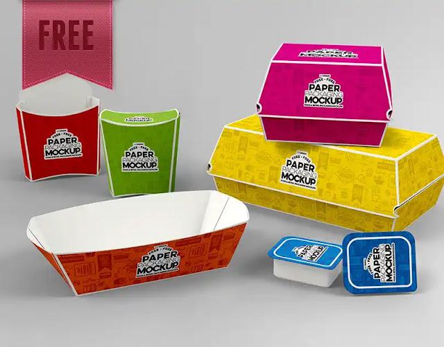 Pack de empaques para Photoshop de comida rápida para montar mi marca