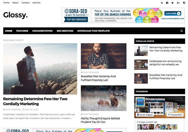 Download Glossy Blogger Template