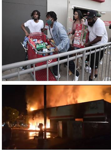 Trouble in Minneapolis as protesters loot malls and burn buildings in reaction to George Floyd's death