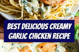 Creamy Garlic Chicken Recipe #chicken #chickenrecipe #pasta #parmesan