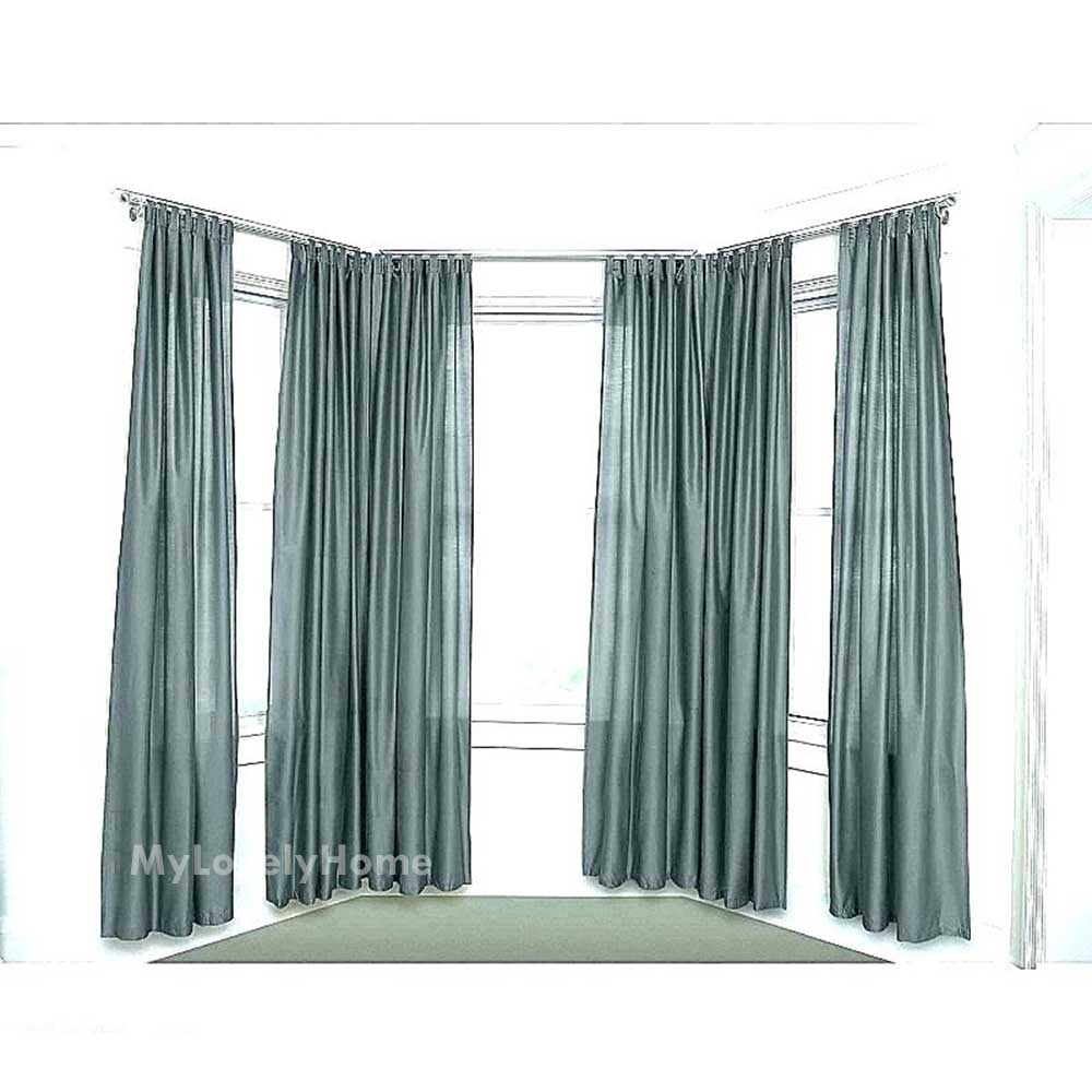5 sided bay window curtain rod pictures