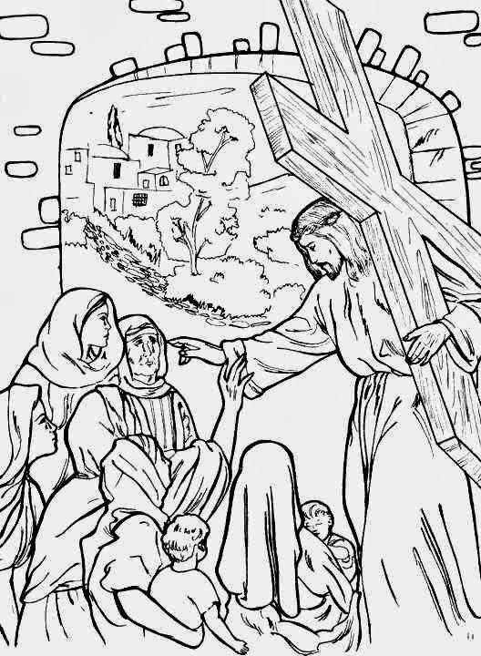 El Renuevo De Jehova: Jesus con la cruz - Imagenes para colorear ...