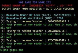 Cara Auto Register Akun Gojek dan Auto Redeem Voucher Massal