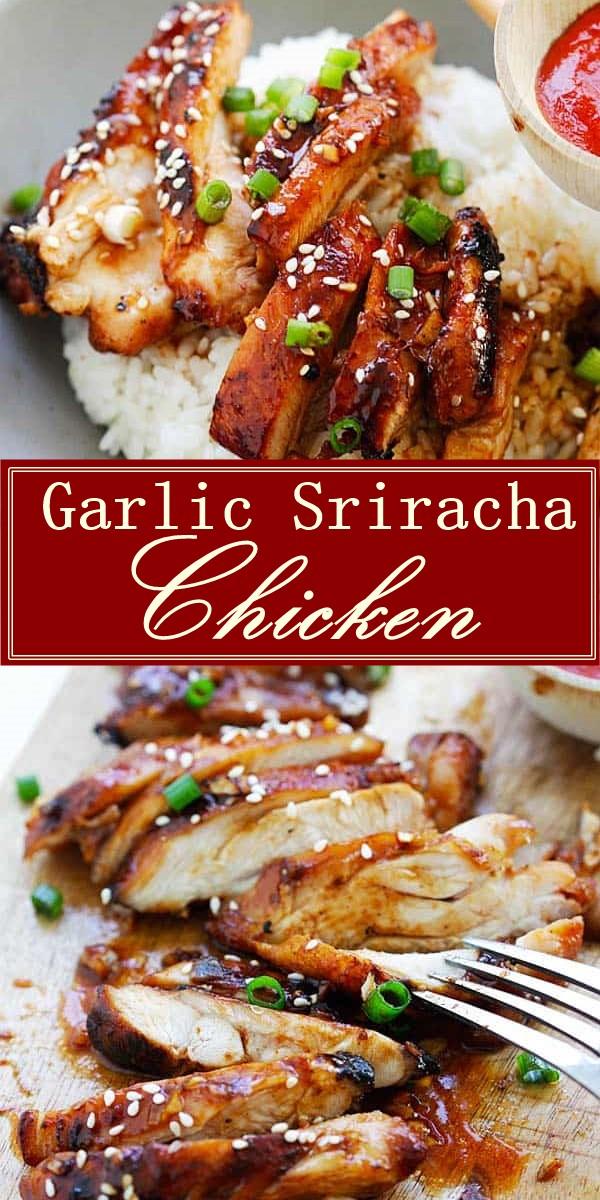 Garlic Sriracha Chicken Recipe #Chickenrecipes