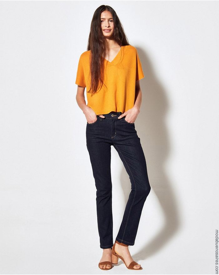 Remeras y jeans primavera verano 2020.
