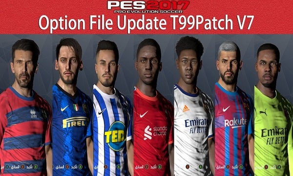 PES 2017 T99Patch Option File Update 2021
