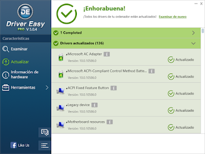 Driver Easy Profesional 5.5.3.15599 [FULL] [+Crack] [Español] ~ IngetutosPC