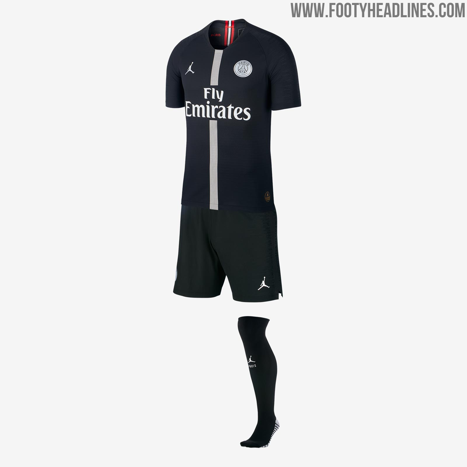 4e98b751652 A special jock tag logo can be seen on the bottom left of the Jordan x PSG  shirt
