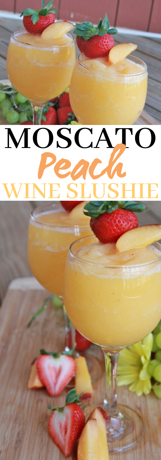 Moscato Peach Wine Slushies #drinks #wine