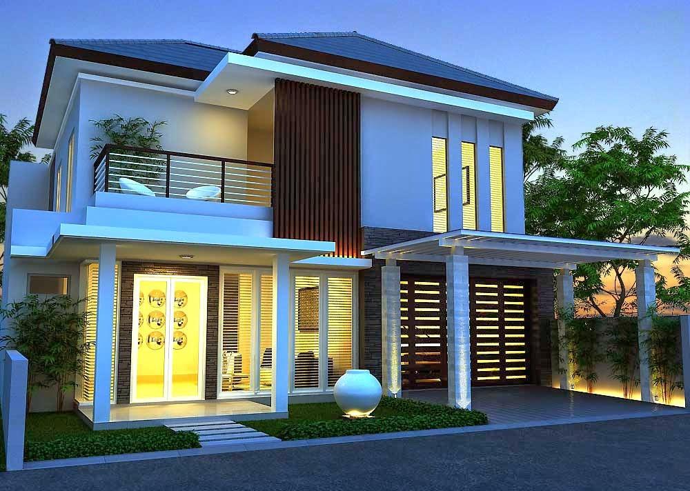 75 Contoh Desain Rumah Minimalis 2 Lantai Yang Nampak Mewah dan Modern  Desain Rumah