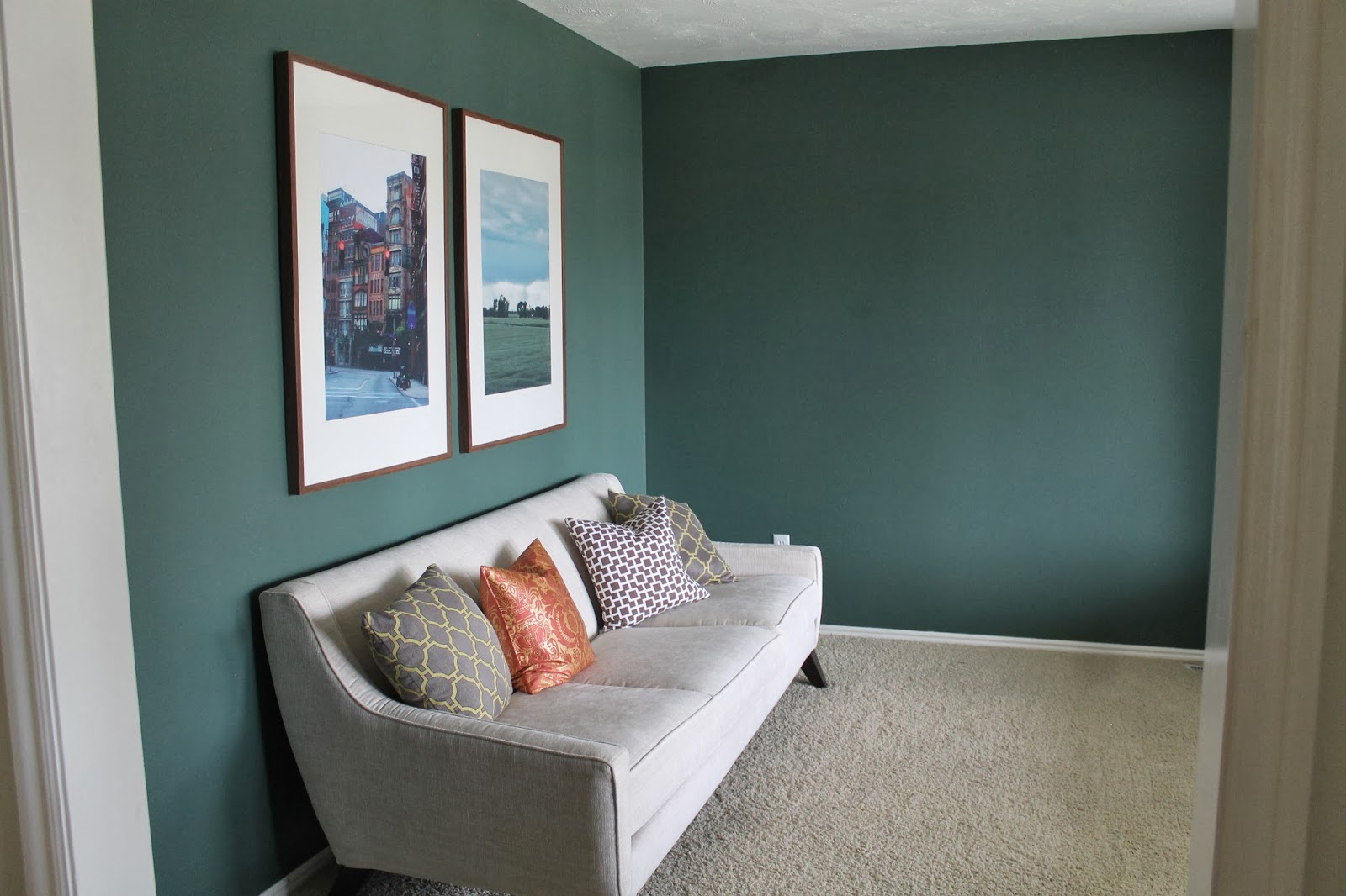 Wall Painting Designs For Hall Reading Room Green Chris Loves Julia
