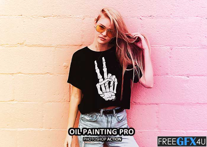 Oil Painting Pro Photoshop Action