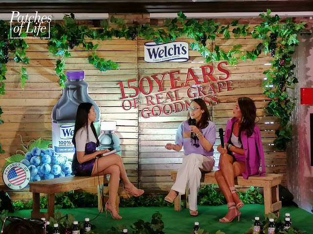 Mommies Fran Sales of Topaz Horizon and Aliza Apostol of MustLoveMom sharing their love for Welch's