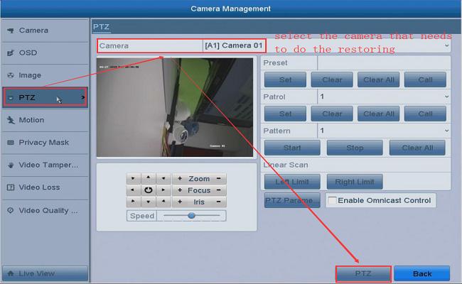 reset Hikvision TVI camera factory default