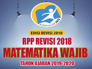 RPP MATEMATIKA WAJIB REVISI 2018 SMA KELAS 10