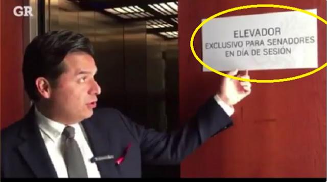 """Senadores no quieren juntarse con la """"chusma"""" discriminan a los mexicanos en los elevadores(VIDEO)"""