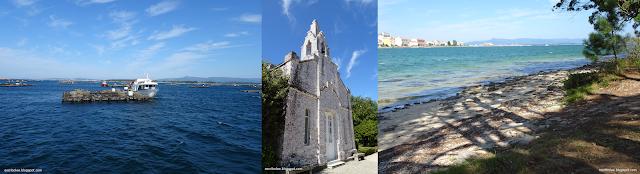 Viaje a Galicia: batea, ermita y playa en La Toja