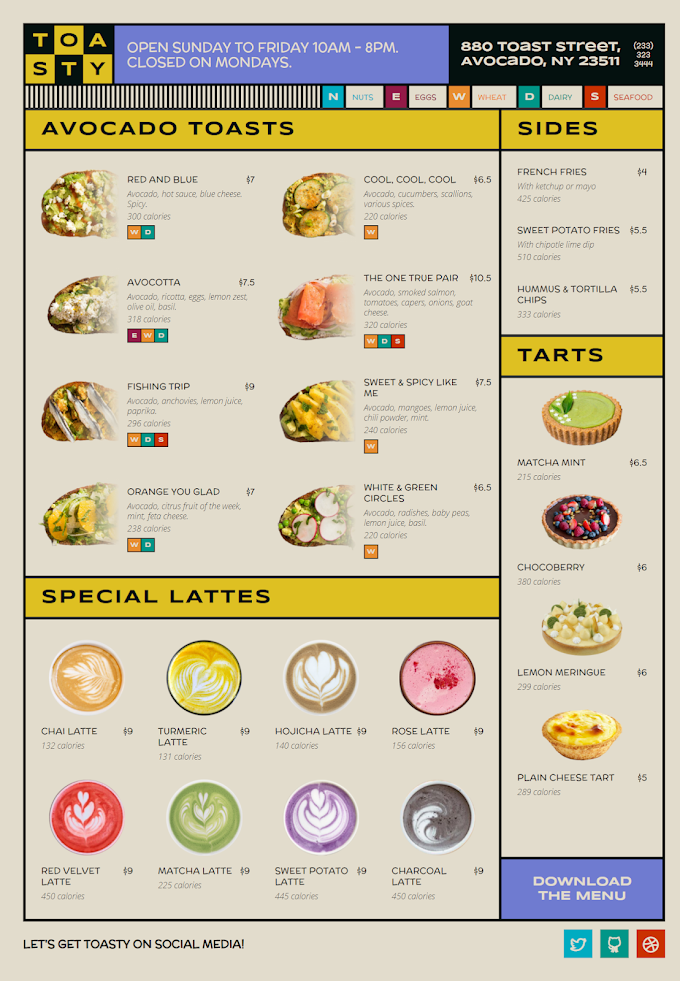 css grid restaurant website template